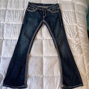 Vigors women's boot cut dark wash jeans 28